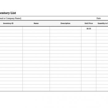 inventory list template 35