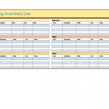 inventory list template 41