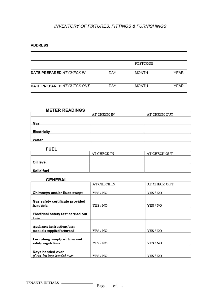 45 printable inventory list templates  home  office