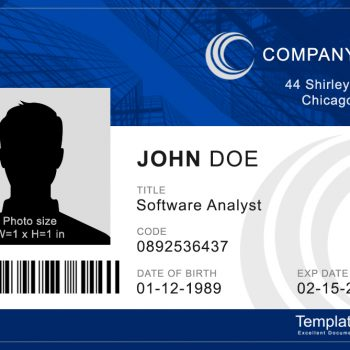Corporate ID Card TemplateArchive