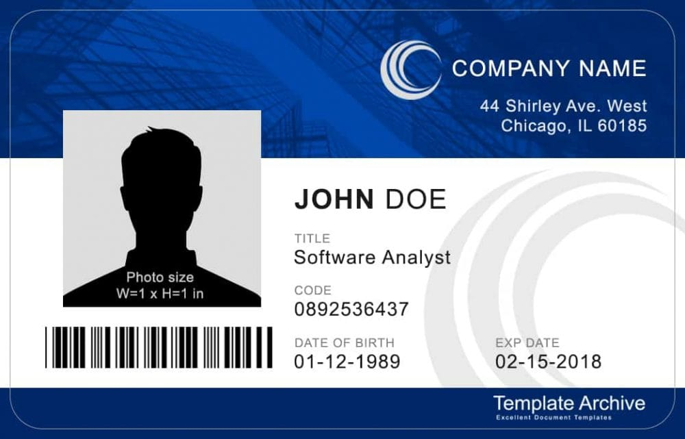 16 ID Badge & ID Card Templates {FREE} - Template Archive