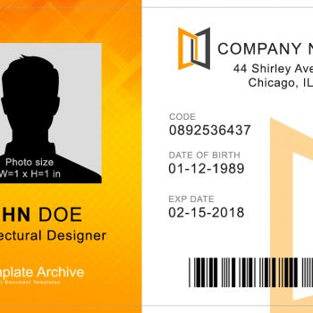 Corporate ID Card 2 - (Word + PSD)