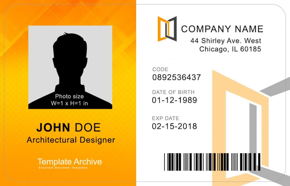 photo about Free Printable Id Cards Templates called 16 Identification Badge Identification Card Templates Absolutely free - Template Archive