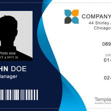 Corporate ID Badge 3 - (Word + PSD)