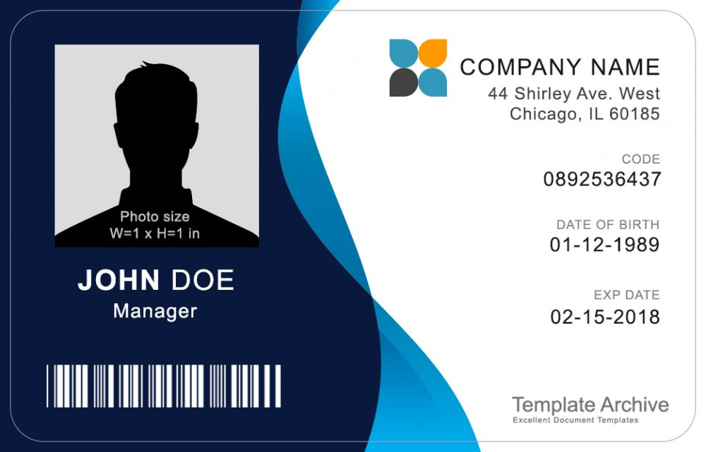 16 Id Badge Id Card Templates Template Archive