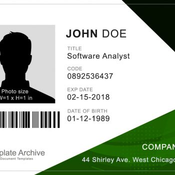 Corporate ID Badge 4 - (Word + PSD)