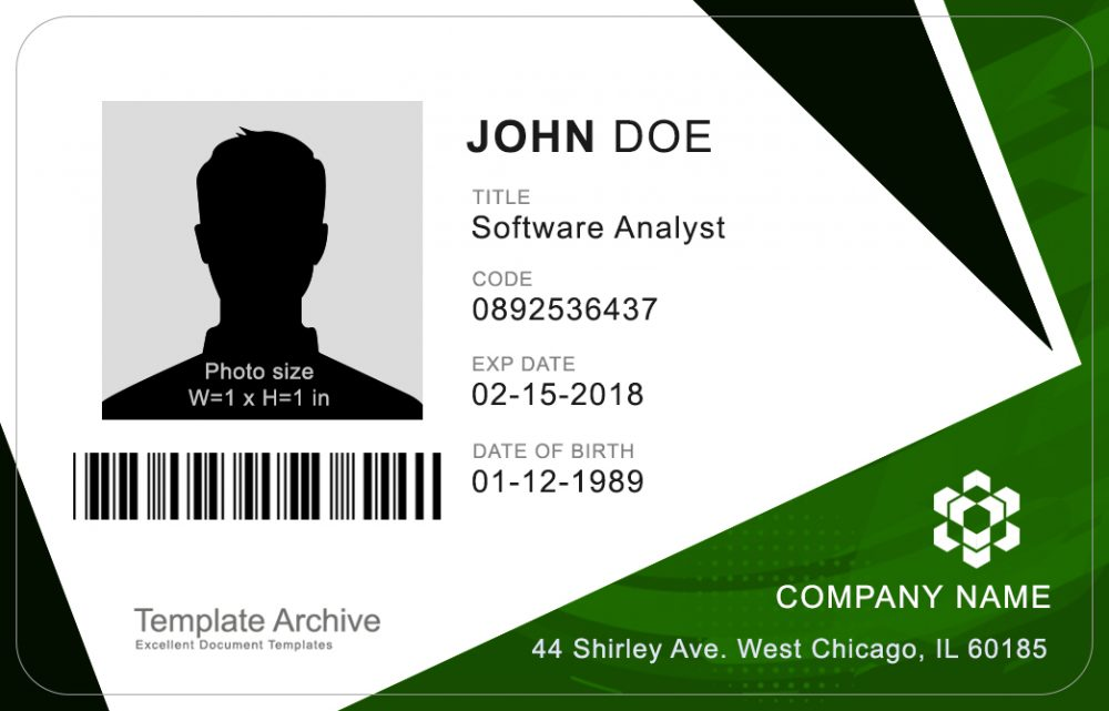 Corporate Id Badge 4 Word Psd