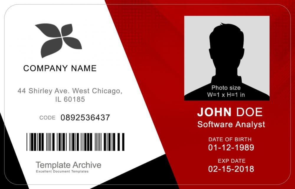Employer ID Badge 5 - (Word + PSD)