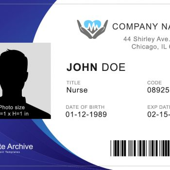 Nurse ID Badge 1 - (Word + PSD)