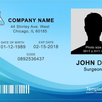Medical ID Badge 1 - (Word + PSD)