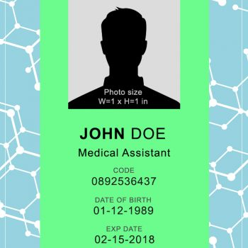 Doctor ID Badge 1 - (Word + PSD)