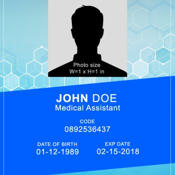 Medical ID Card 4 - (Word + PSD)