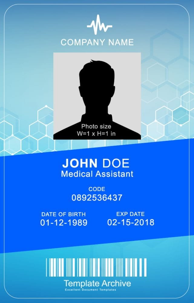 This is a graphic of Striking Free Printable Medical Id Card