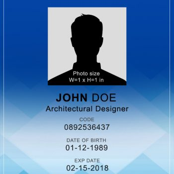 Vertical ID Card 1 - (Word + PSD)
