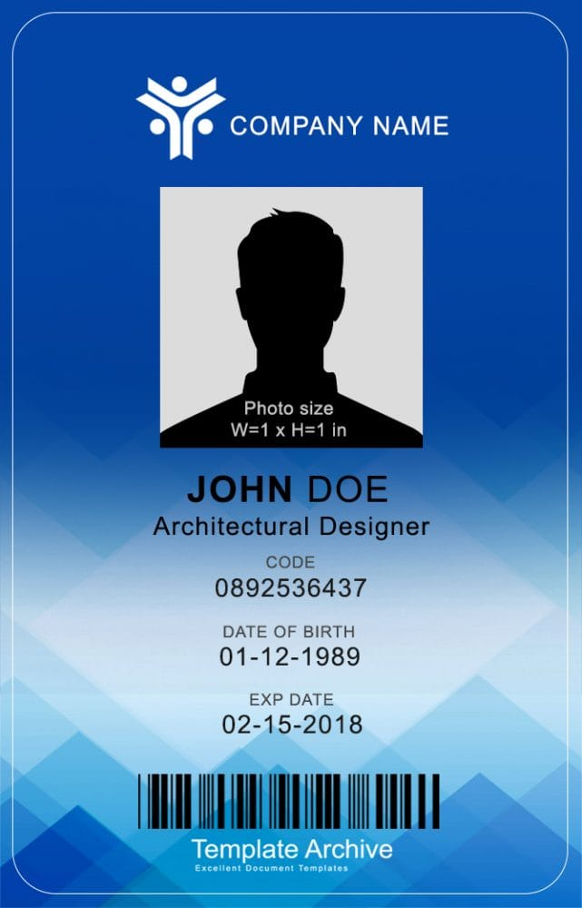 teacher id card template - 16 id badge id card templates free template archive