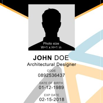 Vertical ID Badge 2 - (Word + PSD)