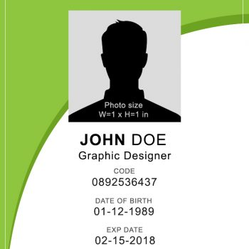 Vertical ID Card 3 - (Word + PSD)