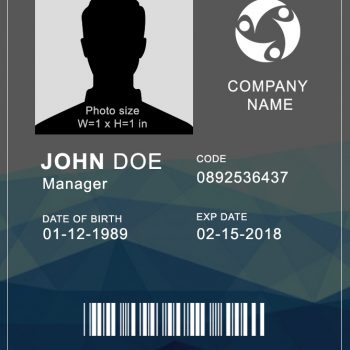 Vertical ID Card 4 - (Word + PSD)