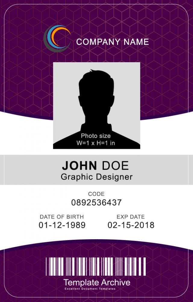16 id badge id card templates free template archive vertical id badge 1 word psd maxwellsz