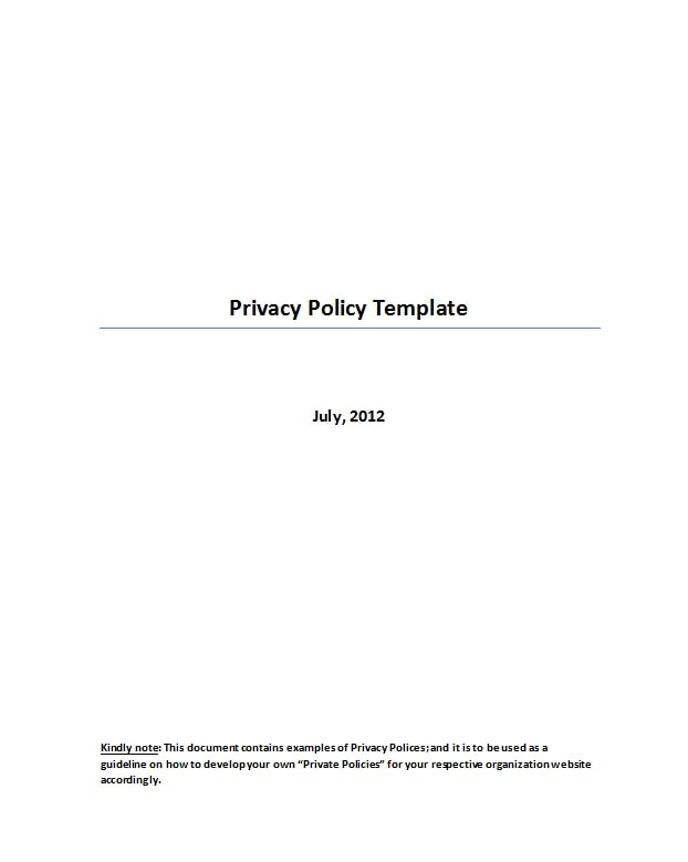 privacy policy template 23