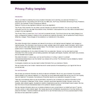 privacy policy template 25