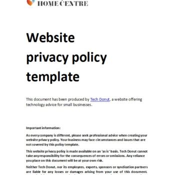 privacy policy template 45