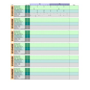picture relating to Printable Baby Schedule named 50 Printable Youngster Feeding Charts [Infant Feeding Program]