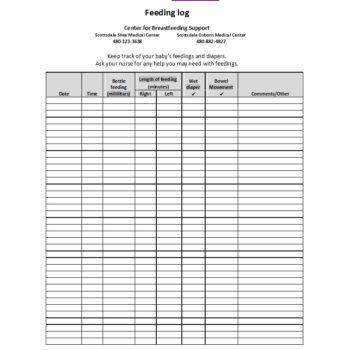 photo regarding Printable Baby Feeding Chart identified as 50 Printable Child Feeding Charts [Toddler Feeding Routine]