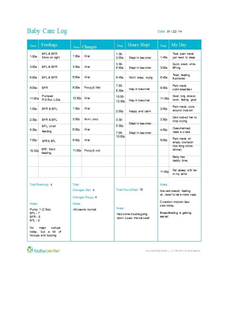 baby feeding chart 50