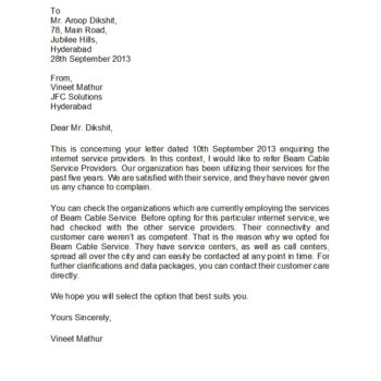 business reference letter 09