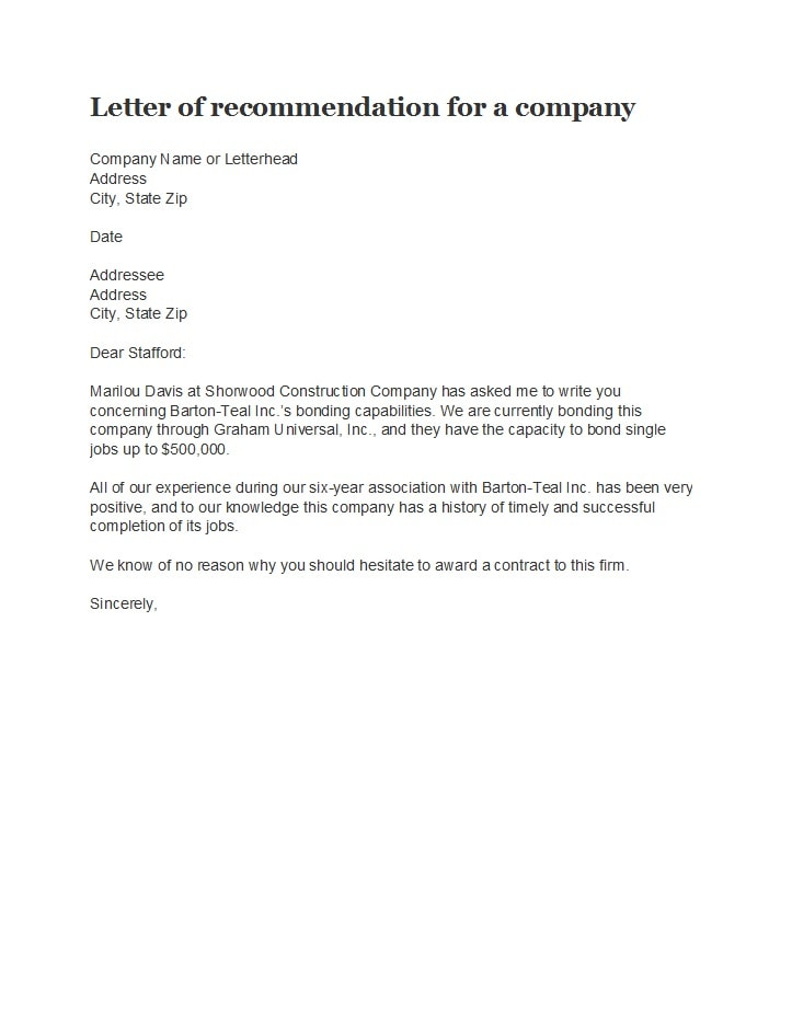 business reference letter 14