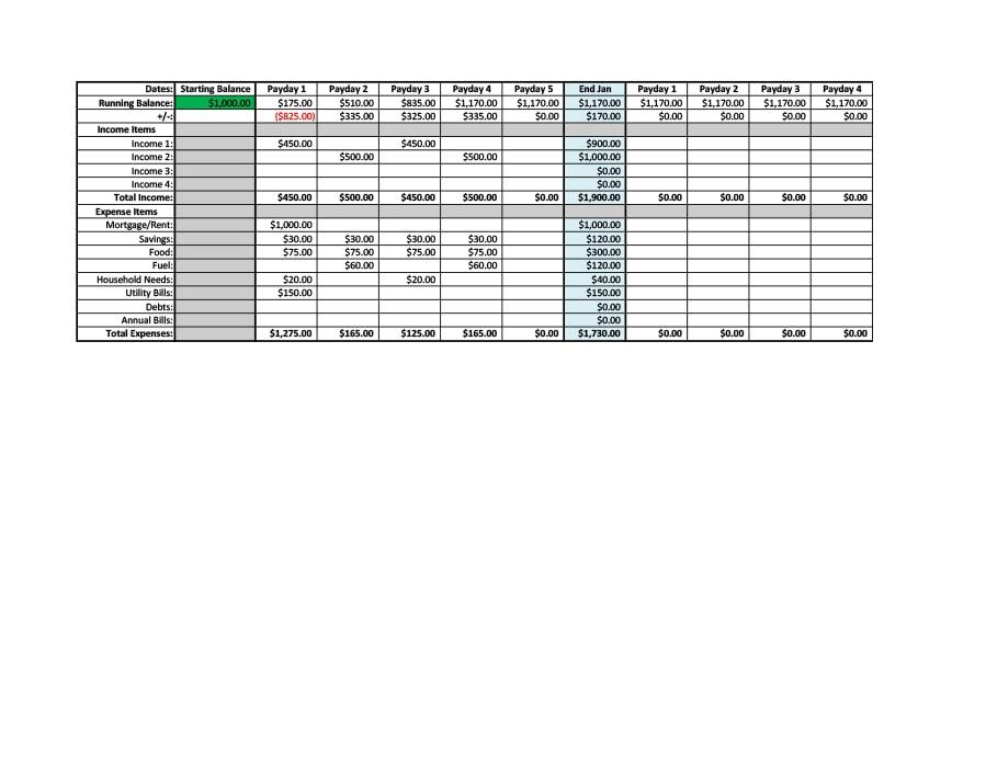 money management worksheet 04