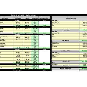 money management worksheet 24