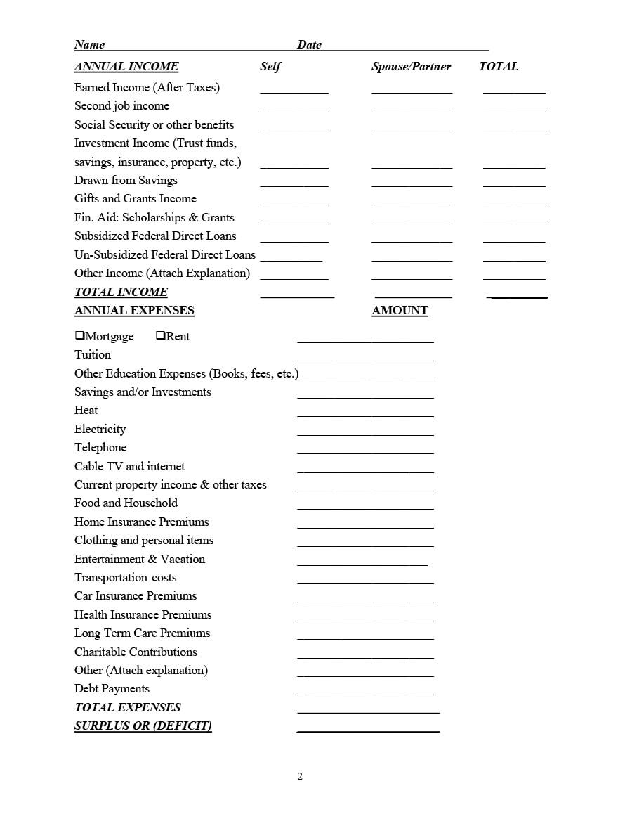 money management worksheet 27