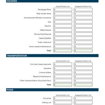 money management worksheet 32