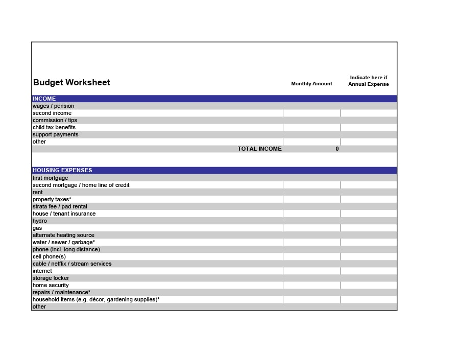 money management worksheet 34
