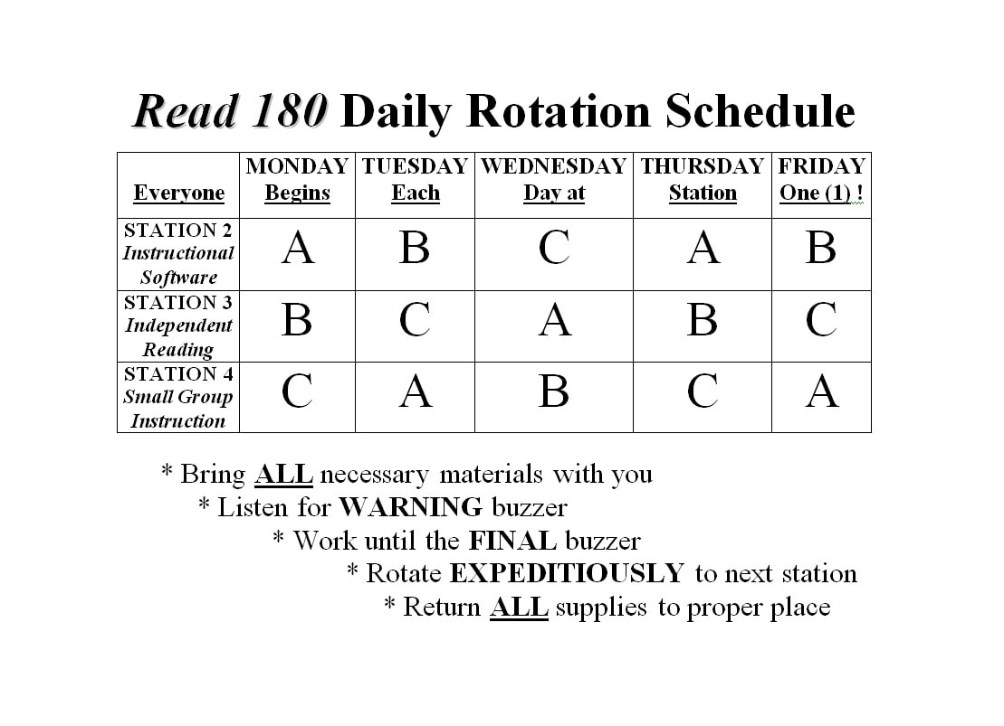 rotating schedule 49