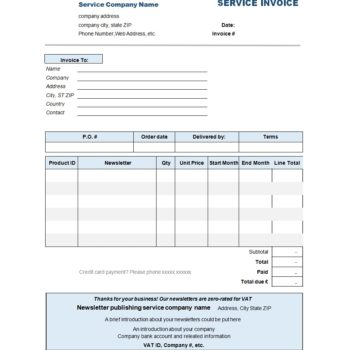 service invoice template 04