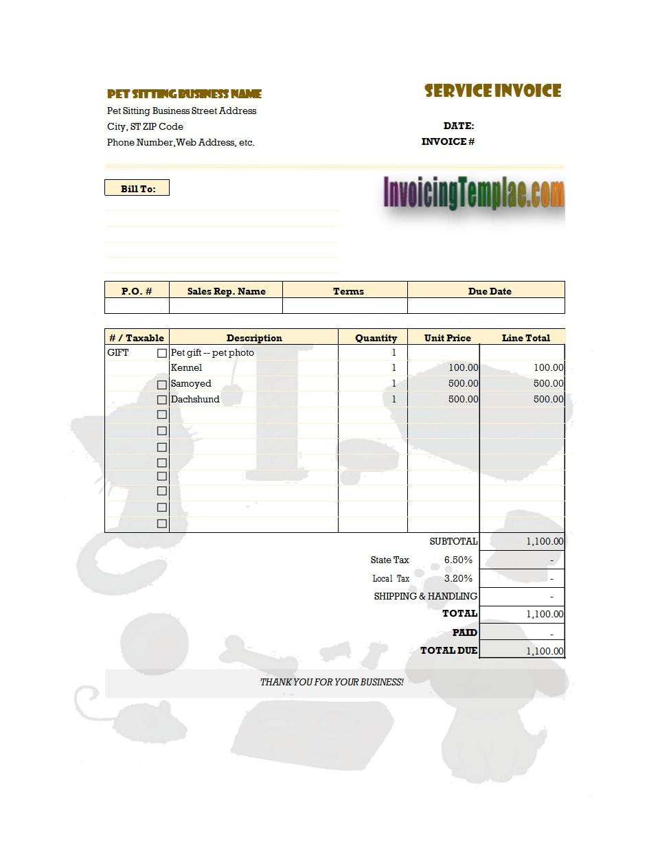 service invoice template 07