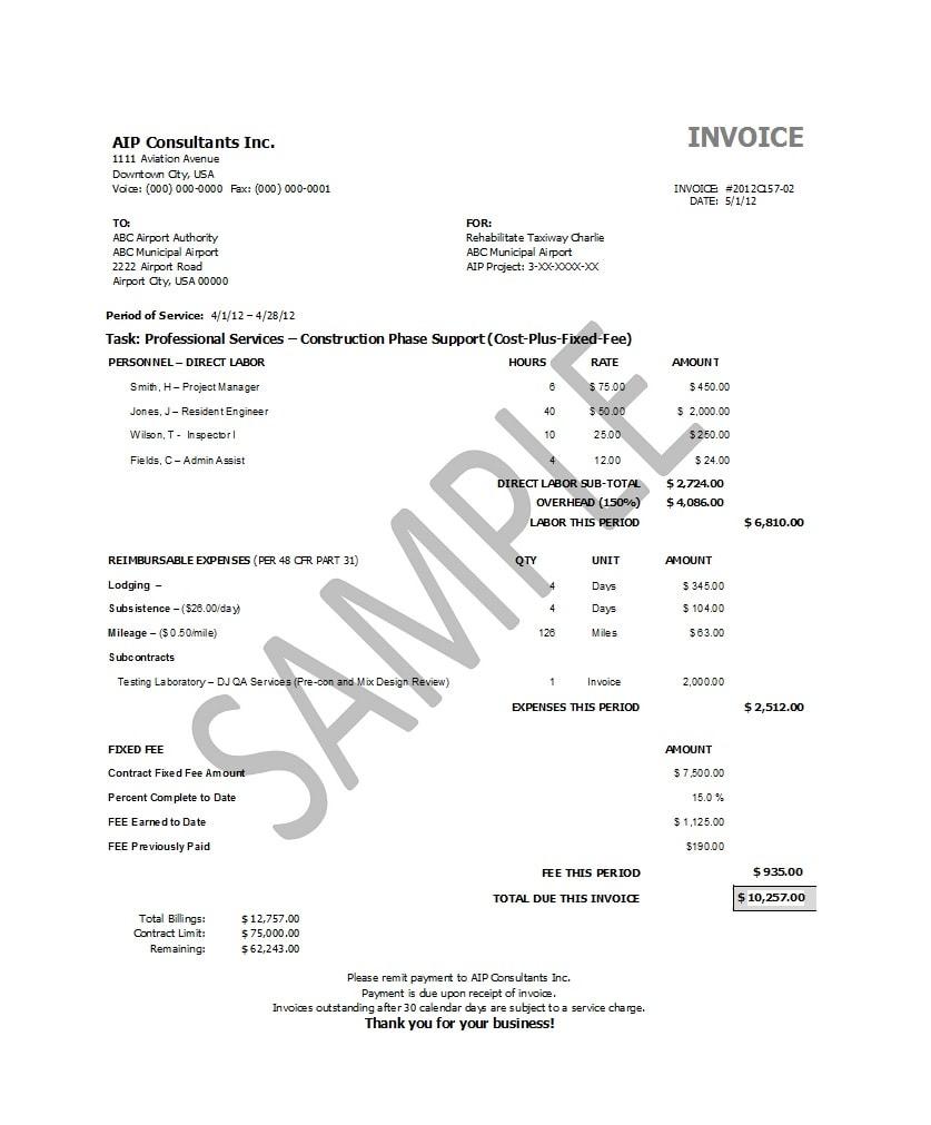 service invoice template 08