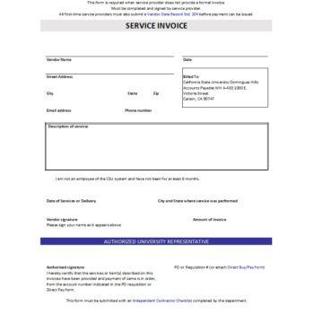 service invoice template 11