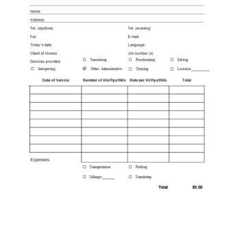 service invoice template 22