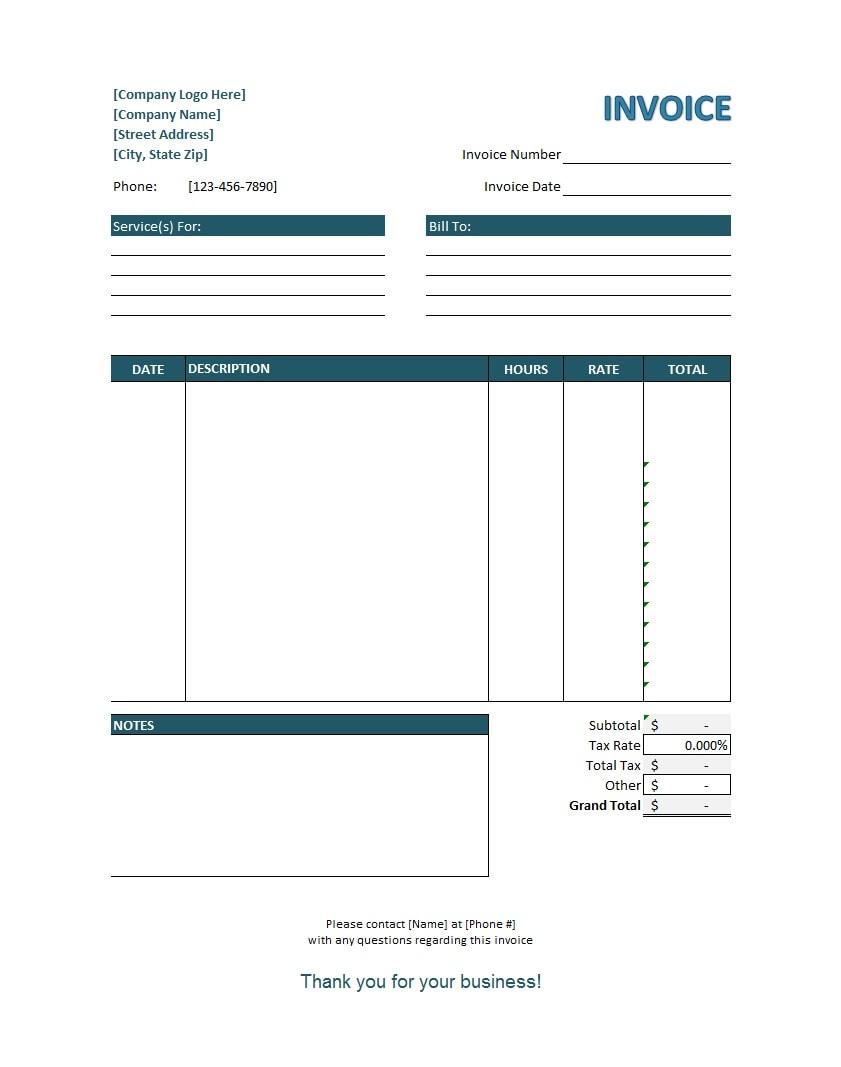 service invoice template 25