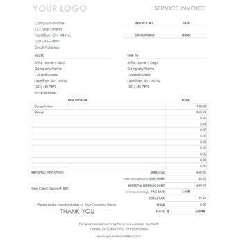 service invoice template 26