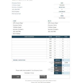 service invoice template 27