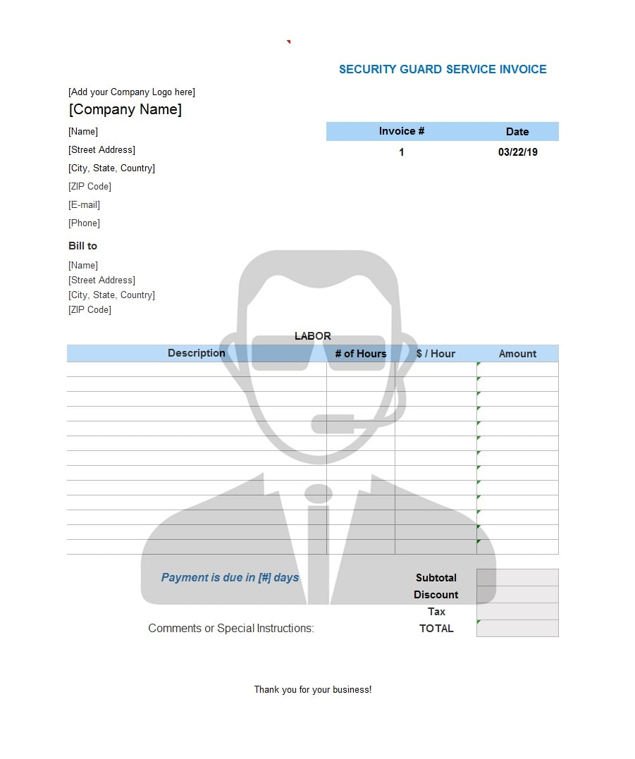 service invoice template 33