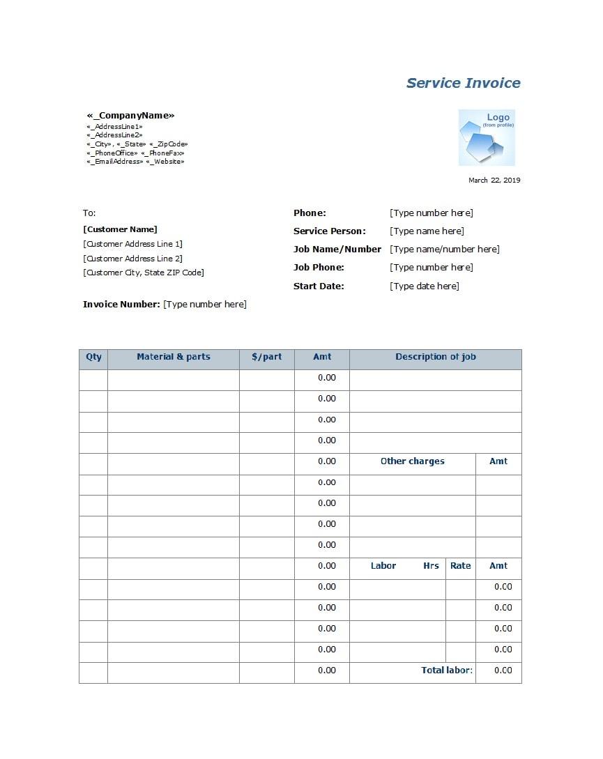 service invoice template 37