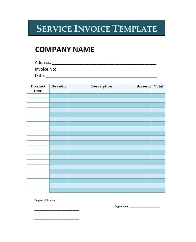 service invoice template 39