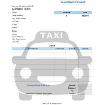 service invoice template 40