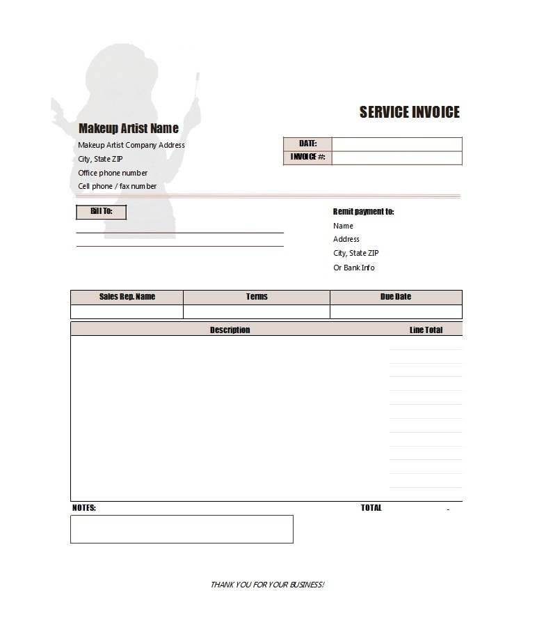 service invoice template 41